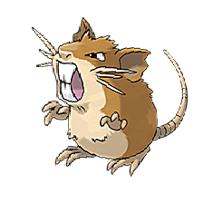 Raticate for Pokemon Go Map, Evolution, Simulators